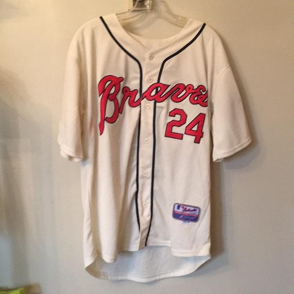 0c81971f Majestic Other | Atlanta Braves Baseball Jersey Evan Gattis 24 ...